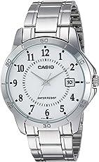 Casio Casio MTP-V004D-7B 白色表盘不锈钢手表