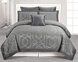 Kempsey Online Duck River Textile 出品超大/超填充被子 6 件套 灰色 King KEMPSEY 4938=1