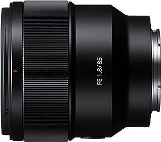 Sony SEL85F18 E 支架全框 85 毫米 F1.8 Prime 镜头 - 黑色