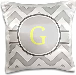brooklynmeme 设计–灰色和白色 V 形 with yellow 交织字母 H 首字母–枕套