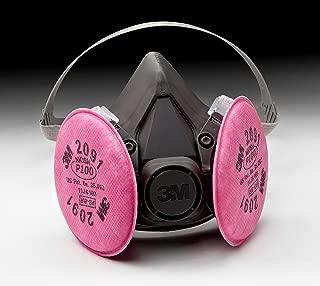 3M 6391/07003(AAD) P100 半面罩可重复使用的呼气口罩套装,大号,可进行呼气防护