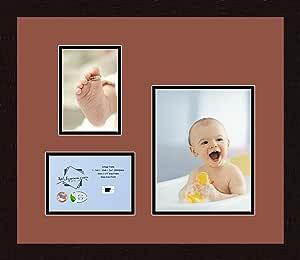 Art to Frames 双多衬垫-222-766/89-FRBW26061 拼贴框架照片垫双衬垫带 2-5x7 和 1-8x10 开口和Espresso 框架