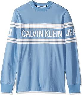 Calvin Klein 男式长袖标志 T 恤