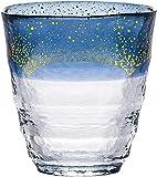 燒*玻璃杯 日式溫熱燒*杯 金箔 藍 300毫升 42130TS-G-WSHB