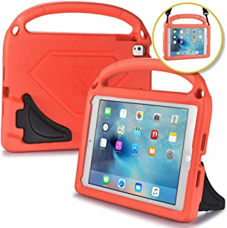 iPad Carrying Case for Kids - BAM BINO HERO iPad Carry Case with Shoulder Strap | Fits iPad 9.7, iPad Air 1, iPad Air 2, iPad Pro 9.7 | Kid Safe EVA, Large Handle, Dual Stand, Boys, Girls [Tangerine]