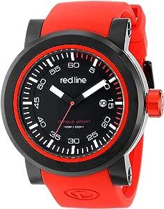 red line Men's RL-50049-BB-01-RDS Torque Sport Analog Display Japanese Quartz Black Watch