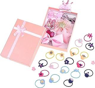 Kare & Kind 发带和发夹套装,儿童幼儿婴儿青少年的发饰,发带和发夹套装,橡胶带发夹
