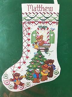 Bears 姜饼圣诞袜十字绣套件 8304