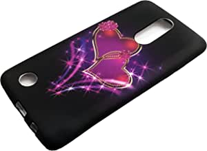 适用于 LG Aristo/Fortune/ Phoenix 3 / Risio 2 LG K8 2017 / K4 2017 M210 M150 M153 钱包卡式手机壳+礼品架 TPU Purple Heart