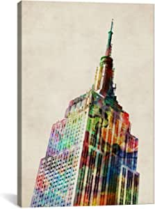 iCanvasART Empire State Building by Michael Tompsett Canvas Art Print, 26 by 18-Inch