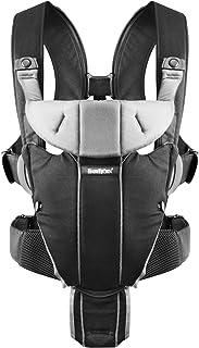BABYBJORN Baby Carrier Miracle 瑞典奇迹婴儿背带 黑色&银色 棉混纺面料(进口)