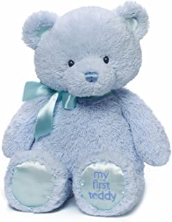 Gund 婴儿 Gund 我的泰迪熊毛绒玩具,15 英寸 蓝色 15英寸