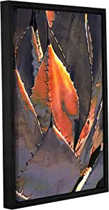"ArtWall ""Linda Parker's Agave Sunset"" Gallery Wrapped Floater Framed Canvas Artwork, 12"" x 18"""