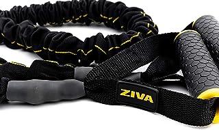 ZIVA 便携式轻质运动阻力管,带泡沫手柄,适用于家庭健身,拉伸,力量训练,物理*,综合健身,平衡锻炼 - 多种力量