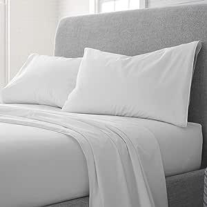EcoPure 床单套装 柔和白色 两个 XL 028828410979