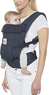 ERGObaby 婴儿背带适合新生儿(3.2至20公斤),这个系列适应3个姿势人体工学 Navy Mini Dots