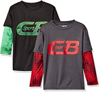 CB 运动(2 件装)男童运动长袖脱领 T 恤