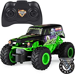 Monster Jam 官方Grave Digger遥控怪物卡车玩具,1:24比例,2.4 GHz,适用于4岁以上儿童