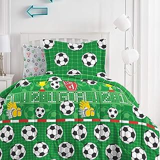 Dream FACTORY 足球场超柔软超细纤维棉被套装,全尺寸,*