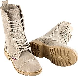 BURGAN 832 沙漠战靴 - 全绒面革带侧拉链(中性)休闲户外男女通用