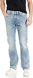 True Religion 男式立领直筒牛仔裤