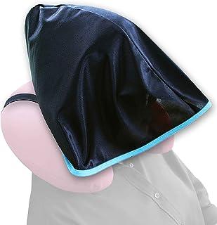 *不显* * 带帽 颈枕 日本制造 BK(シェードのみ) サイズ:フードサイズ(平置き):約高さ30×幅46×奥行42cm ゴムの長さ:32.5cm(*大伸長:60cm) -