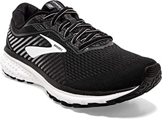 Brooks 男式 Ghost 12 跑鞋 Black Ebony White 10.5 UK