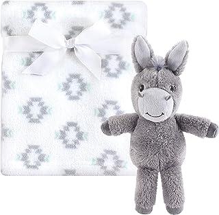 Hudson Baby毛绒毯和动物*毯套装 Snuggly Donkey 均码