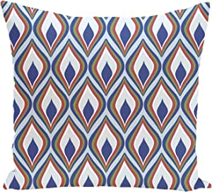 Ebydesign Candlelight Geometric Print Pillow, Blue Suede