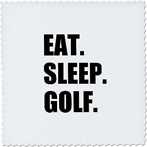 qs_180407 InspirationzStore Eat Sleep 系列 - Eat Sleep Golf。 适合高尔夫爱好者和专业高尔夫球手的有趣文字礼物 - 方形被子 6x6 inch quilt square qs_180407_2
