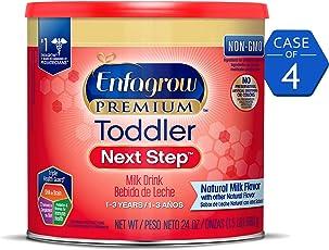美赞臣婴幼儿3段奶粉, 4罐装(包装会有所不同) Enfagrow PREMIUM Next Step,24盎司/罐(约680g/罐)(适用年龄1-3岁)