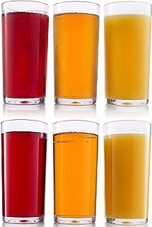 6 件套丙烯酸玻璃杯 – 20 盎司丙烯酸玻璃器皿非常适合丙烯酸*杯或丙烯酸饮水杯 – 送礼佳品