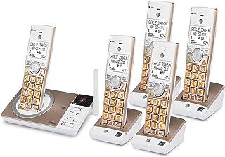 AT&T 无绳电话 5 电话接听系统,带智能电话阻断器,白色/香槟色 CL82547