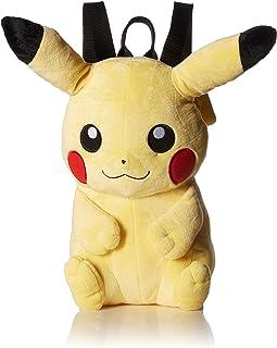 Pokemon Boys' Pikachu Plush Backpack  黄 均码