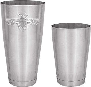 专业不锈钢,波士顿风格鸡尾酒调酒器 2 件套,18 盎司和 28 盎司