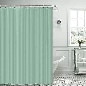 Popular Bath 801699 浴帘/内衬,白色 薄荷绿 943443