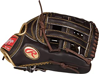 "Rawlings 金色手套 12.75 英寸棒球手套:RGG3039-6MO 黑色 12.75"""