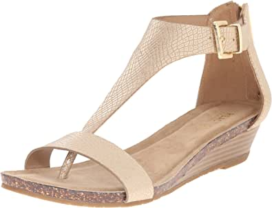 Kenneth Cole REACTION Women's Great Gal Wedge Sandal Soft Gold 6.5 B(M) US