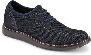 Dockers 男士 Einstein 针织/皮革智能系列正装休闲牛津鞋 NeverWet Navy Textile/Nubuck 12 M US