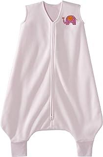 HALO 赫拉 安全睡袋 大童 超细摇粒绒 可伸脚 粉色大象 4-5岁 秋冬厚款