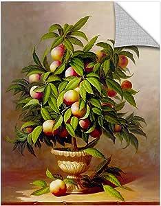 "Welby ""Potted Peach Tree""画廊装裱油画,24X32"