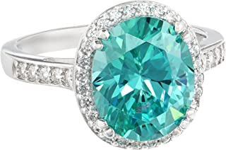 "Myia Passiello""Cocktail Ring"" Oval Cut Swarovski Zirconia Mint Ring"