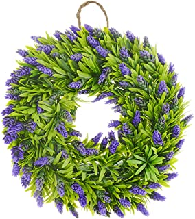 Saim 万圣节家庭花园装饰塑料植物花卉 Bromeliad 前门花环 19.7 英寸直径 4 YWSJJJ08822