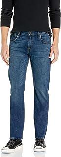 7 For All Mankind 男式标准直筒牛仔裤,深蓝色