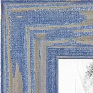 """画框深长春花木框架……3.81 cm 宽 蓝色 4 x 5"""" NM-4x5-0066-56673-YBLU-1"""