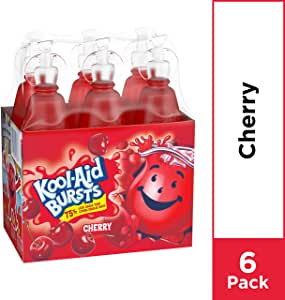 Kool-Aid Bursts (6.75-Ounce), Cherry, 6-Count Bottles (Pack of 8)
