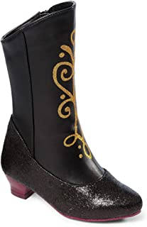 Disney Frozen Princess Anna Black and Gold Costume Boots (2/3)