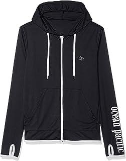 [美国太平洋服饰] MENS商标设计全拉链长袖防紫外线连帽卫衣 519480A BLK 日本 M (日本サイズM相当)