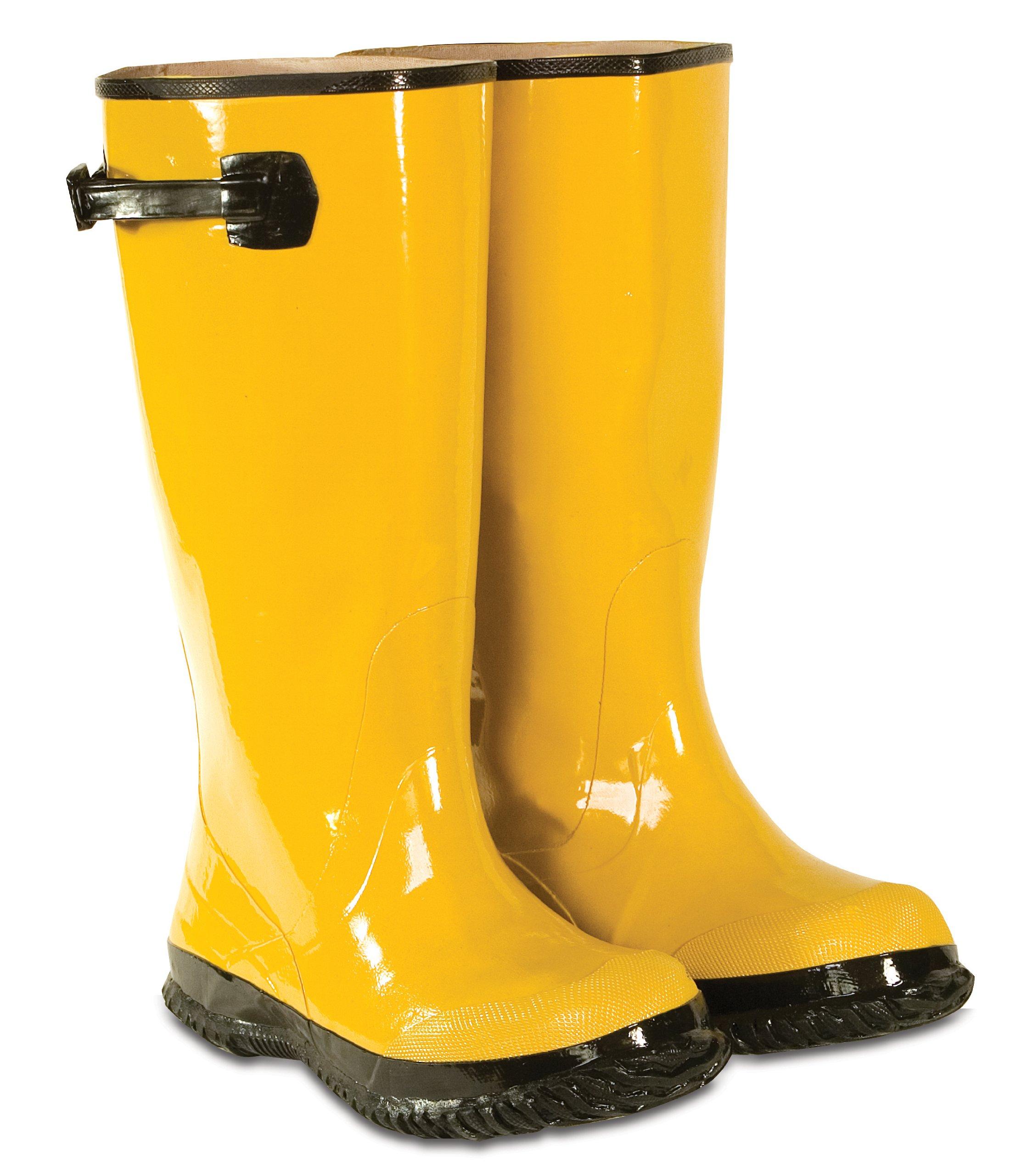 スラッシュCLCカスタム靴の革黄色のレインコートサイズ17 R20017