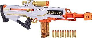 NERF Ultra Pharaoh 玩具枪,带高级金色点缀,10 个飞镖夹,10 个飞镖,螺栓动作,仅兼容 Ultra Darts